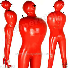 Latex Rubber 0.45mm Inflatable Bodysuit Catsuit Suit Zentai Leotard Overall NEW