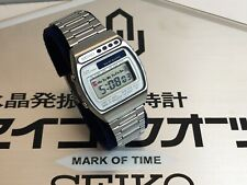 Rare 1978 Japanese SEIKO A156 5010 LC Quartz LCD Digital watch uhr MOT