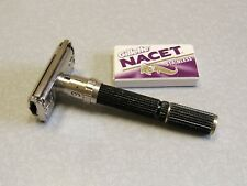 Vintage 1971 Gillette Super 84 Black Beauty Adjustable DE Safety Razor