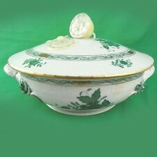 CHINESE BOUQUET Herend Green Covered Vegetable NEW NEVER USED porcelain Hungary