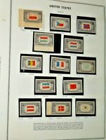 CatalinaStamps:  US Stamp Lot on Harris & Stella Pages, 204 Stamps, Lot R8