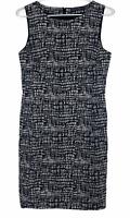 Sportscraft Womens Black/White Striped Sleeveless Corporate Dress Size 6