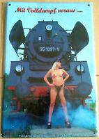 """Blechschild-    """"  Eisenbahn """"      NEU & OVP"""