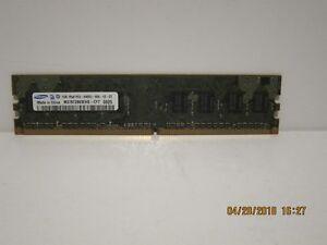 SAMSUNG 1GB DDR2 SDRAM 1Rx8 PC2-6400U-666-12-ZZ, TESTED & 100% Functional F/SHIP