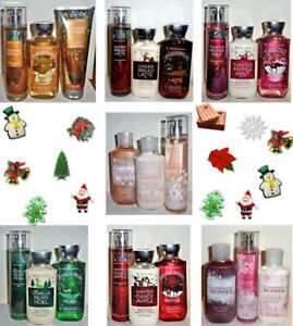 Bath & Body Works Holiday Favorites 3 PC Full Size Mist Lotion Shower Gel  NEW