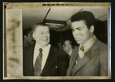 Muhammad Ali LOT OF 3 Press Wire Photos 1974 w/ Gene Tunney 1980 Democratic Con.