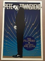 Pete Townshend Poster Fillmore Mint Offset 1996 The Who