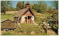 The Little Wedding Chapel Marriages & Baptisms Rough & Ready CA Postcard Wayside