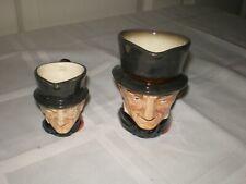 "Set of 2 Vtg Royal Doulton England Toby Mug Jug John Peel Old Mark 2.5"" & 3.5"""