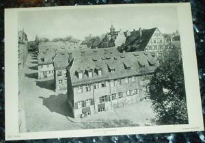 Nürnberg Sieben Zeilen: alte Tafel Städteansicht Bayern Franken Webersiedlung