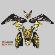 2007 - 2009 SUZUKI RMZ 250 RMZ250 GRAPHICS KIT ROCKSTAR : BLACK / GOLD DECALS