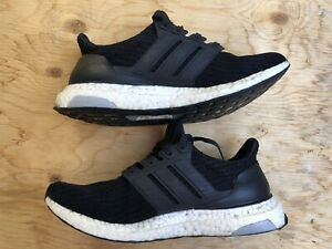 Adidas Ultra Boost Running Shoes Black Womens Size 8 Used