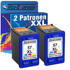 2 Patronen ProSerie für HP 57 XL OfficeJet 4105 4110 4115 4214 4215 4219 4250