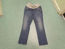 "Next Slim Maternity Jeans Size 14R Leg 30"" Faded Medium Blue Ladies Jeans"