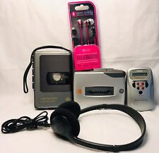 Two GE Cassette Recorders, RCA Mini Receiver, Headphones and Earbuds 3-5366A