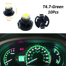 10x T4.7/T5 Neo Wedge LED Bulb Dash Climate Instrument Base Light Lamp Green