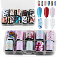 AB Color 3D Transfer Holographic Decals Manicure Decor Nail Art Stickers Starry