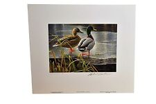 1985 1st of Canada Wildlife Habitat Duck Stamp Artist Rob Bateman w/2 Stamps