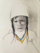Unique Original sketching by American Artist Sandre Benjaminson signed 20 x 15