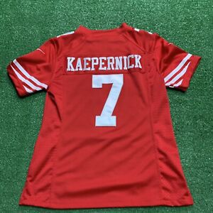 Colin Kaepernick San Francisco 49er's Nike On Field NFL Red Jersey Youth Size M
