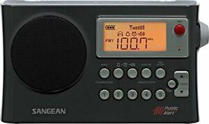 Sangean PR-D4W AM/FM Weather Alert Portable Radio with Bandwidth Narrowing,...