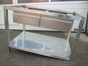 Gastro Edelstahl Unterschrank 80 x 107,5 x 65 cm mit 2 Schubläden /S