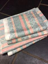 Bundle 6.91m Grey Silver Pink Green Cotton Fabric SHERIDAN Curtains FREE POSTAGE