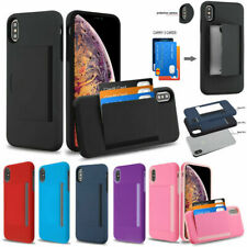 Samsung Galaxy S10 /Plus Wallet Hard Case Protective Hybrid Cover Cards Holder