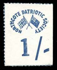 Australia WWI - Northcote Patriotic Society - 1/- Fundraising Stamp - Variety