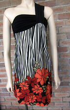 Tropical / Retro Floral One Shoulder Dress - Size 8 - NWT!..RRP: $69.90