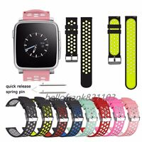 22mm Replacement Soft Sport Silicone Watch Band Strap For Pebble Time 2 Steel