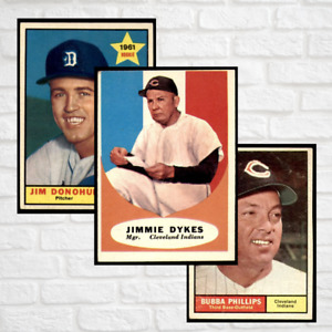 1961 Topps Baseball 251-530 ~ COMPLETE YOUR SET, CHOOSE/PICK YOUR CARDS!
