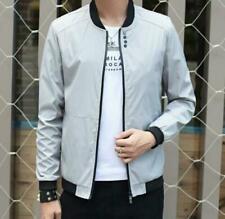 Spring Men Jacket Overcoat Zipper Casual Coat Solid Color SIZE: XL 1