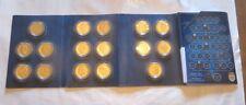 La dynastie royale de Belgique en 16 médailles plaquées à l'or 24 carats.