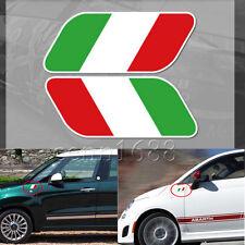 2pcs Italy Italian Flag Sticker Car Auto Side Fender Emblem Badge Decal