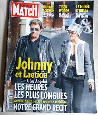 PARIS-MATCH-J.HALLYDAY & LAETITIA à LOS ANGELES-M.JACKSON-2009