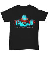 Superhero Jesus Christ T-Shirt Christian Men Women Faith God Unisex Tee Gifts