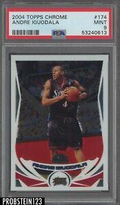 2004 Topps Chrome #174 Andre Iguodala Philadelphia 76ers RC Rookie PSA 9 MINT