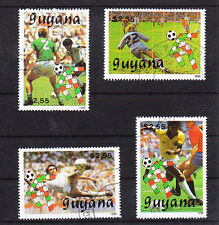 v1544 Guyana/ Fussball-WM 1990  MiNr 3059/62 o