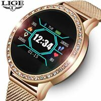 LIGE Ladies Smart Watch Blood Pressure Heart Rate Monitor Fitness tracker
