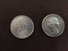 Washington Quarter Silver 1964 - D - PLUS Canada Bobcat / Lynx 1967 Quarter