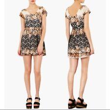 Topshop Floral Lace Skater Dress Size UK6 EUR34 US2 RRP £49