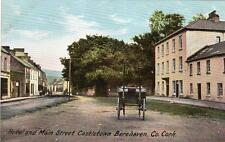 Hotel & Main Street Castletown Berehaven Co Cork unused old pc W Lawrence