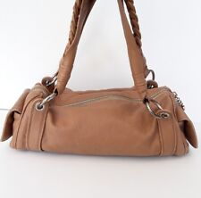 Juicy Couture tan brown leather large slouchy handbag shoulder purse