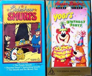 VHS Video Sideshow Smurfs Rare Yogi Bear Birthday Party VHS vintage