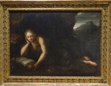 Huge 17th Century Italian Old Master Penitent Magdalene Antique Oil Painting