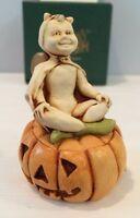 """NIB Halloween Pumpkin Figurine Box 1998 Harmony Kingdom """"Pumpkinfest"""" #TJEVPU98"""