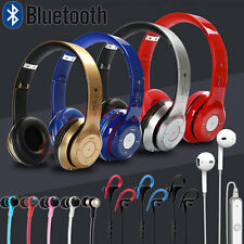 NEW Sweatproof Wireless Bluetooth Earphones Headphones Headsets Sports Gym w/Mic