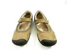 Keen Womens Mary Jane Shoes Flats Size 8 Brown Leather Adjustable Strap Comfort