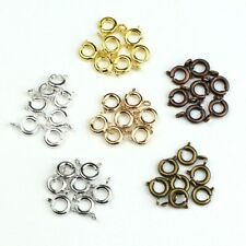120pcs/lot Spring Ring Clasp Open Ring Jewelry Clasps Connectors Diy Findings